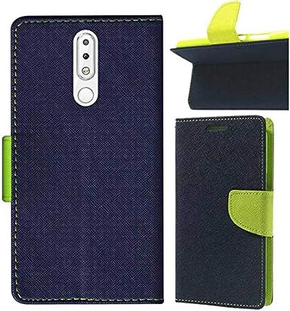 meet 331e5 b97f5 ORC Nokia 5.1 Plus Flip Cover - Magnetic Flip Cover for Nokia 5.1 Plus  (Nokia X5) (Black)