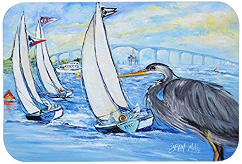Carolines Treasures JMK1001JCMTBlue Heron Sailboats Dog River Bridge Kitchen or Bath Mat Multicolor 24 by 36