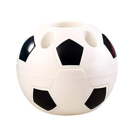 Bulary Portalápices Forma de balón de fútbol, Soporte para Cepillo ...