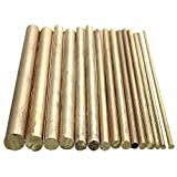 KINGSO Brass Round Rods Bar Assorted Dia 2-8mm DIY Craft Tool Pack of 15