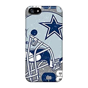Scratch Protection Hard Cell-phone Case For Iphone 5/5s With Custom Colorful Dallas Cowboys Pattern SherriFakhry