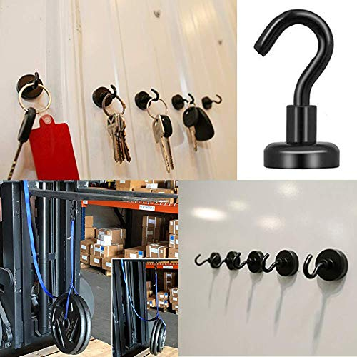 Grtard 18LBS Heavy Duty Magnetic Hooks, Strong Neodymium Magnet Hook for Home, Kitchen, Workplace, Office and Garage-20 Pack by Grtard (Image #4)
