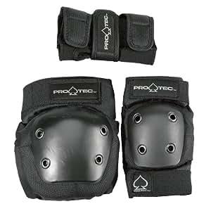 Protec Jr. Knee/Elbow/Wrist Combo Pad (Black)