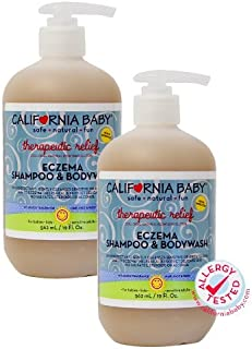 product image for California Baby Eczema Shampoo and Body Wash (Therapeutic Relief) Skin Protectant for Hair, Face, Body | Organic Oatmeal and Calendula | Dry, Sensitive Skin | 19 oz | 2 Pack