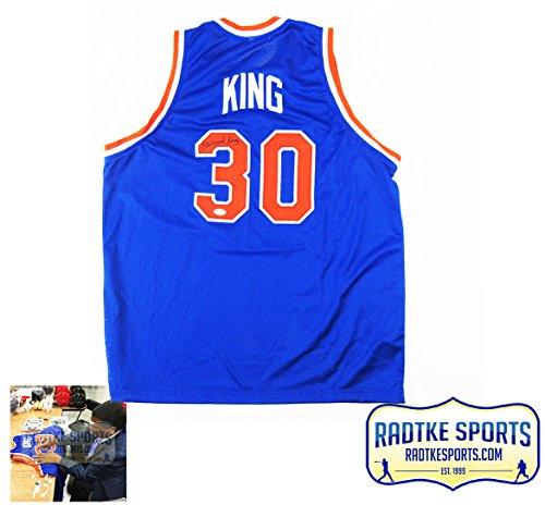 Bernard-King-AutographedSigned-New-York-Knicks-NBA-Blue-Custom-Jersey
