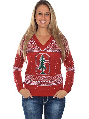 Women's Stanford University Sweater - Stanford Cardinal Ugly Christmas Sweater