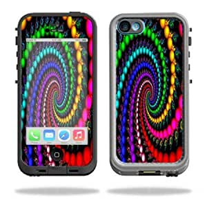 Viesrod - Protective Vinyl Skin Decal Cover for LifeProof iPhone 5C Case fre Case Sticker Skins Trippy Spiral