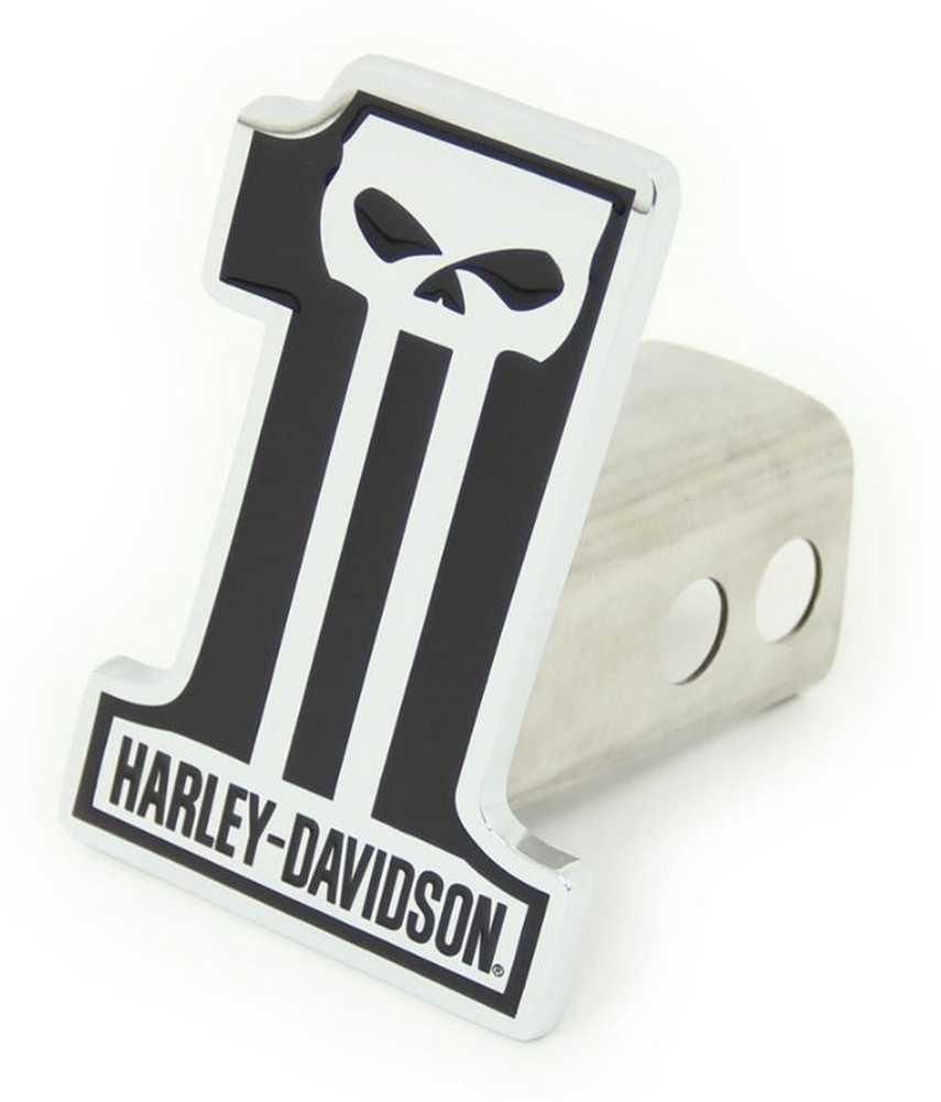 Harley-Davidson #1 Skull Trailer Hitch Plug 2'' Stainless Steel HDHC216 by Harley-Davidson