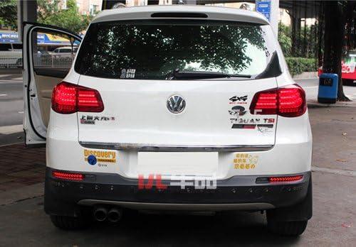 2x Clear Lens Stoßstange Hinten Reflektor Led Rückseite Schwanz Stop Bremslicht Für 2007 Tiguan 5n Auto