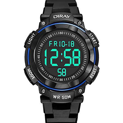 Kids Digital Watches, DIRAY Boys Girls Sport Watches Stopwatch 50M Waterproof Wrist Watch LED Timepieces