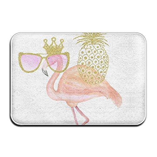 DoorMat Glitter Clipart Flamingo Outdoor Door Mat With Non Slip Backing Bathroom Mats Bathroom Kitchen Decor Rug Mat 60x40cm]()