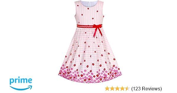 59f9bead9e1d Amazon.com  Sunny Fashion Girls Dress Navy Blue Butterfly Party ...