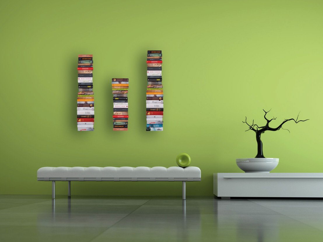 Originelle Bücherregale unsichtbares bücherregal im 4er set my home amazon de