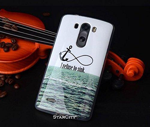 LG G3 Case, StarCity ® LG G3 Case [Cartoon Owl Print] Flexible TPU Case Skin Gel Protective Cover Case (for LG G3 Verizon, AT&T Sprint, T-mobile, Unlocked) (Cartoon Series_Anchor)