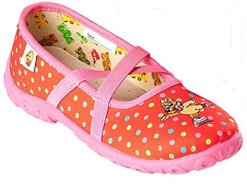 Pantoffeln Hausschuhe Ballerinas HARIBO rot Mädchen Größe: 25 - 30 (27)