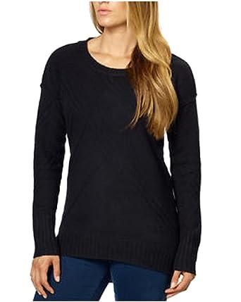 b01699931930 Amazon.com  Calvin Klein Jeans Ladies Crew Neck Sweater (Black)