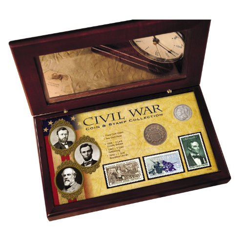 American Coin Treasures Civil War Coin and Stamp Collection Boxed Set