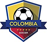 Colombia Flag National Soccer Team Badge Home Decal Vinyl Sticker 13'' X 12''