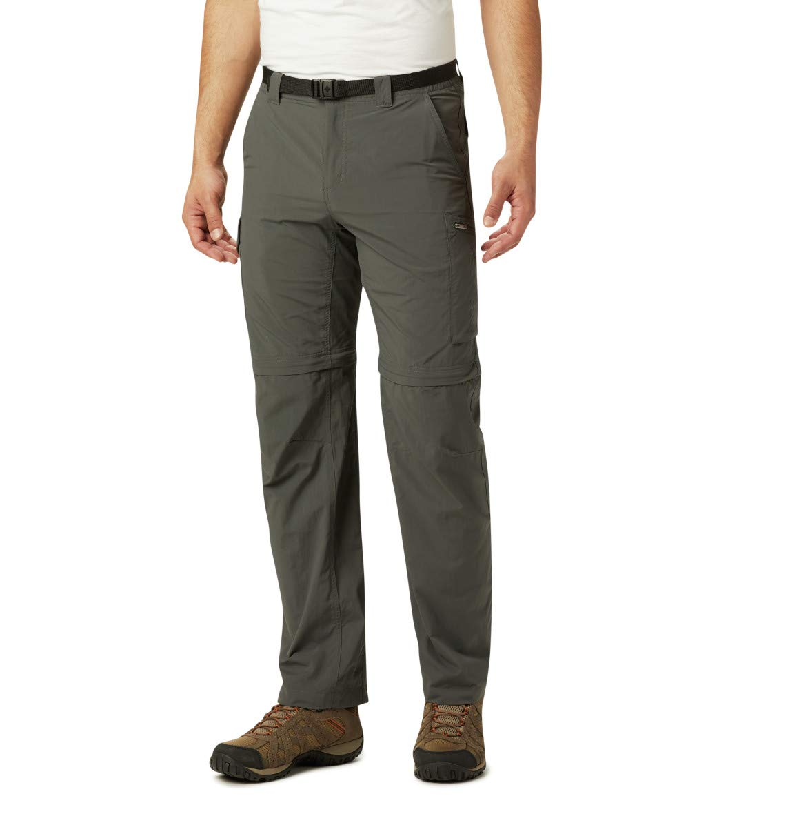 Columbia Men's Silver Ridge Convertible Pant, Breathable, UPF 50 Sun Protection, Gravel, 42x36 by Columbia