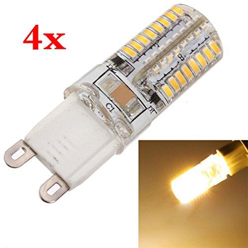 SODIAL(R) 4x G9 3W 64 LED 3014 SMD Blanco calido Bombilla Lampara Luz de punto de ahorro de energia 220V: Amazon.es: Hogar