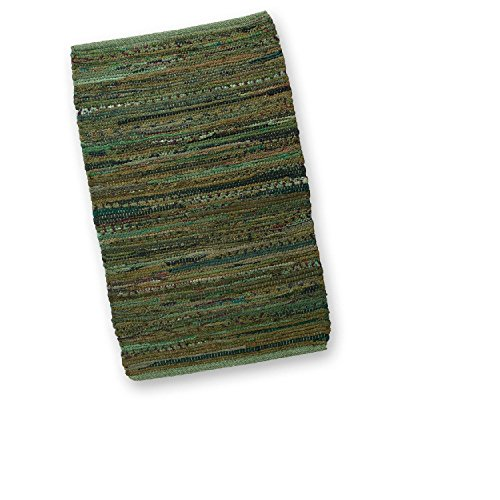 Cheap CC Home Furnishings 2′ x 3′ Hand Woven Olive Green Cotton Chindi are Throw Rug