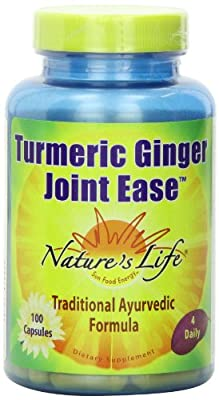 Nature's Life Turmeric Ginger Joint Ease Capsules, 100 Count