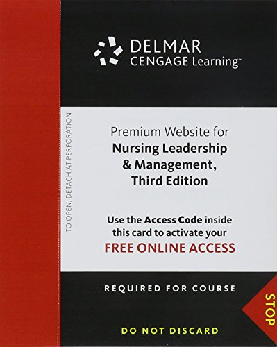 Premium Web Site Printed Access Card for Kelly's Nursing Leadership & Management, 3rd
