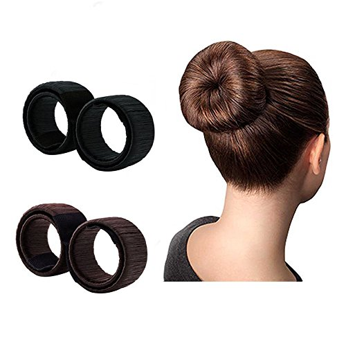 YOUFA Bun Maker Hairstyle Clip Beauty Crown for Woman Kids Curler Roller Tools Hair Accessories 2pcs