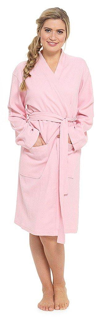Foxbury Dames 100/% Robe de Chambre en Coton Waffle