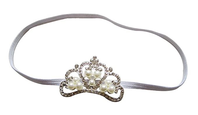 Amazon.com: Gran Perla de vidrio Tiara Slider bebé Diadema ...