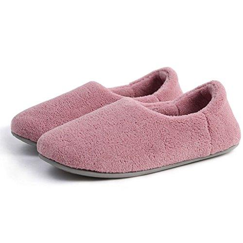 Mujeres Antideslizantes 3 Cotton Fondo Grueso Cálido Pattern de Zapatos Slippers y Zapatillas con de Hogar 6IW00qgw