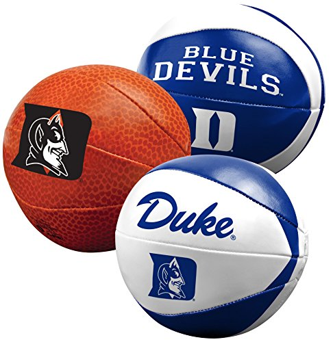 NCAA Duke Blue Devils Three Ball Softee Basketball Set, 4""