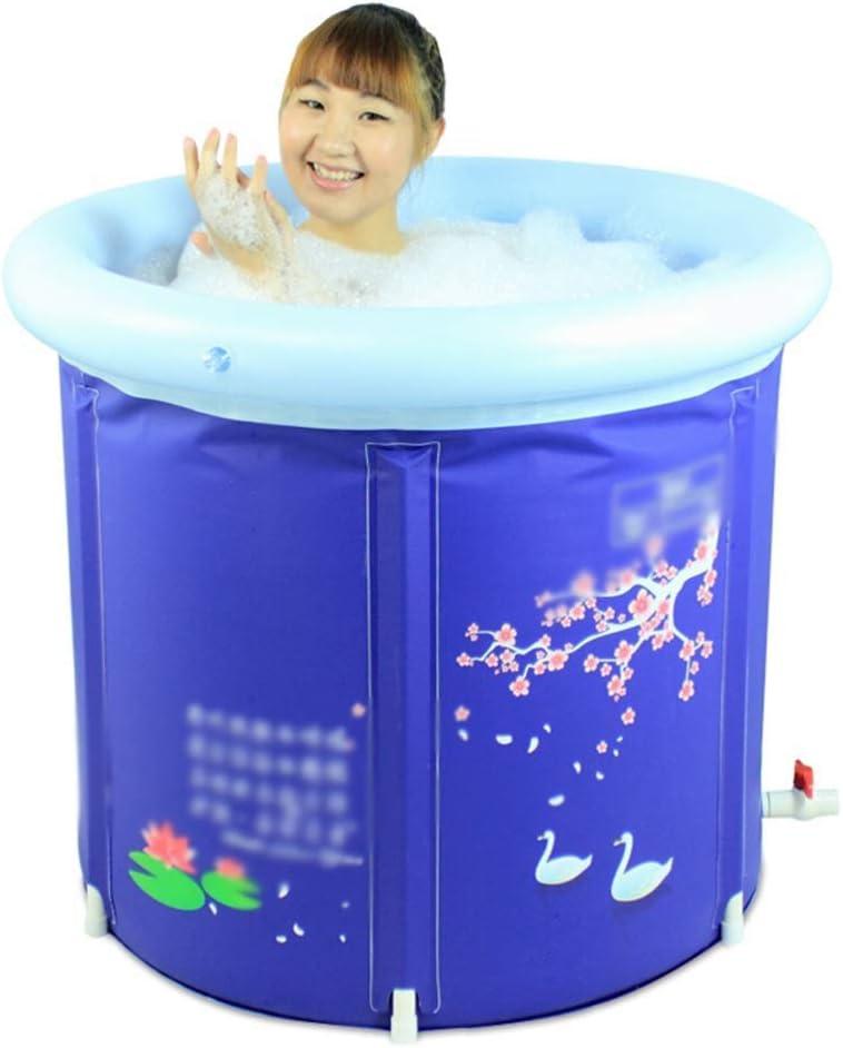 JJZXT Tamaño de Altas Prestaciones for Adultos bañera Plegable, bañera Inflable, portátil Bañera, Bañera de plástico, SPA Bañera Tamaño, 65cm * 70cm