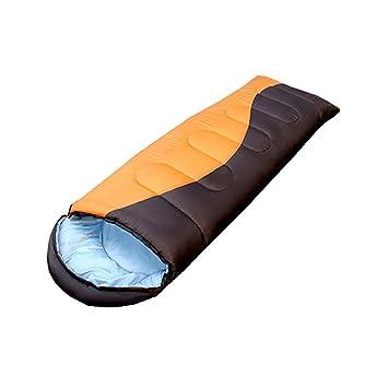 MIAO Sacos de dormir - Al aire libre que acampa 1300g El saco de dormir adulto del algodón se puede lavar, orange: Amazon.es: Deportes y aire libre