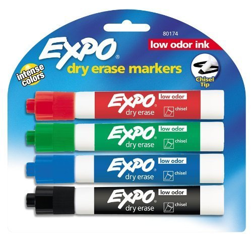 Expo Chisel Erase Markers Colored