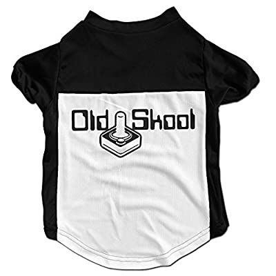 Richard Lyons Fashion Sleeveless Pet Supplies Dog Cat Clothes OLD SKOOL Funny Guys Mens And Ladies Vintage Pet Apparel Clothing Black