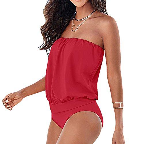 LYNCH Más el tamaño de trajes de una pieza del traje de baño de baño Rosa