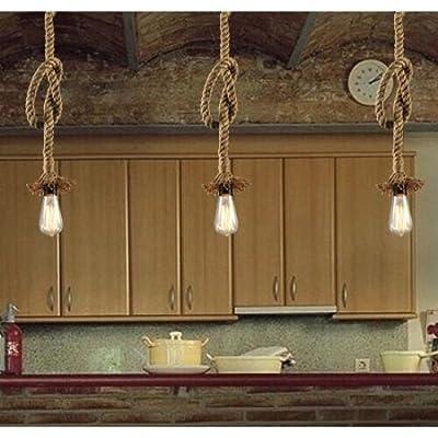 LightInTheBox 2PCS Vintage Chandeliers Retro Pendant Lights 200CM Ceiling Lighting Fixture Rustic/Lodge Lamp for Dining Room, Bedroom, Living Room