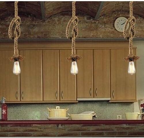 LightInTheBox Retro 1 Lamp Hemp Rope Chandelier Retro Country Style Pendant Lights