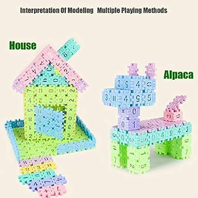 Lumumi Building Blocks Toy, Large Retro Geometric Digital Building Blocks Educational Toys 55 Capsules: Toys & Games