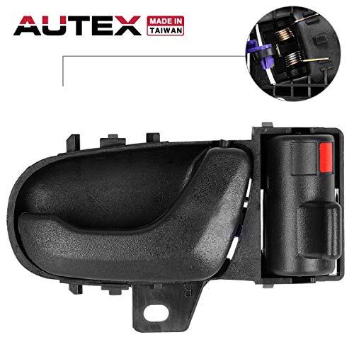 (AUTEX Black Interior Front Right Door Handle Passenger Side Compatible with GEO Metro,Suzuki Swift 1992 1993 1994 Door Handle 80475 8313065E005ES)