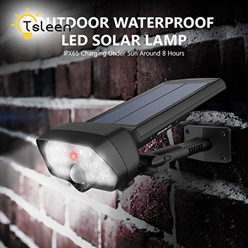 Cool white, Water Weather proof : TSLEEN luminaria solar led para jardim exterior de parede para calle com sensor lampe solaire led exterieur lampada energia