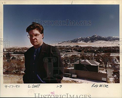 1990 Press Photo Chris Gilbert Montana Paradise Valley Underground - Pictures Valley Paradise