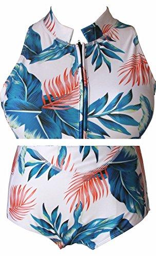 I VVEEL Mujer Una sola pieza de manga larga/corta/manga corta sin mangas de protección UV frente/bikini bikini traje de baño Verde02