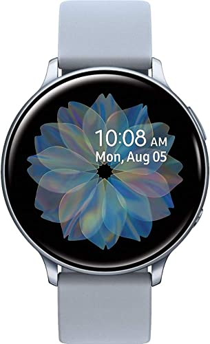 Samsung Galaxy Watch Active2 Silicon Strap Aluminum Bezel Bluetooth – International Cloud Silver, R830-40mm