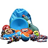 Dog toys 14 Pack Set. Funny and variety Pet Toys for for Medium Dogs & Large Dogs.-for aggressive chewers-12 Indoor and outdoor dog toys -2 Funny sounded dog toys. …