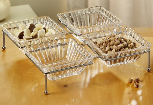 Crystal Clear Alexandria 5-Piece Buffet Server Set