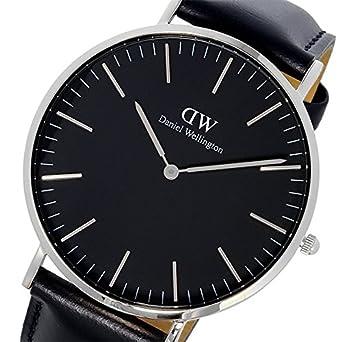 fc52715f12 [ダニエル ウェリントン] Daniel Wellington 腕時計 DW00100133 Classic Man 40 mm ブラック Black  Sheffield horloge