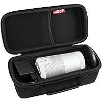 Hard EVA Travel Triple Black Case for Bose SoundLink Revolve Bluetooth Speaker and Charging Cradle By Hermitshell