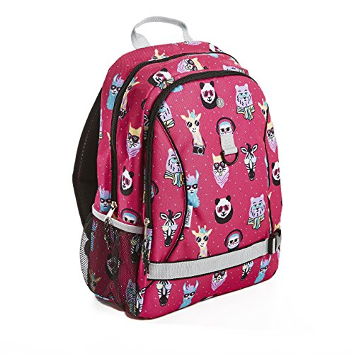 Fit & Fresh Hipster Animal Backpack for Kids & Teens, for School and Sports, Llama, Panda, Giraffe Characters